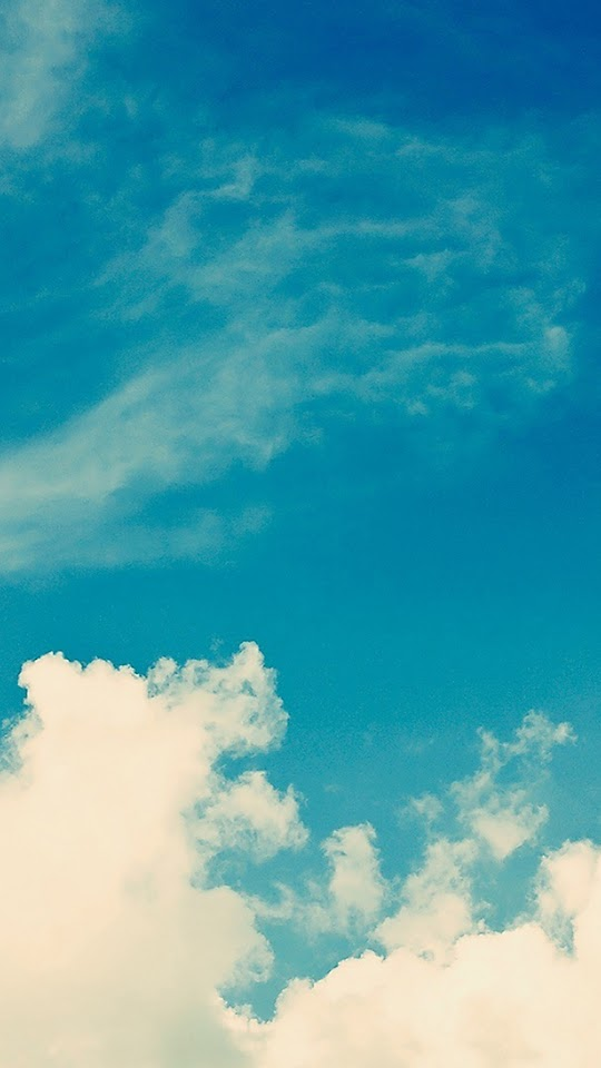 iOS 8 Blue Sky Clouds  Galaxy Note HD Wallpaper