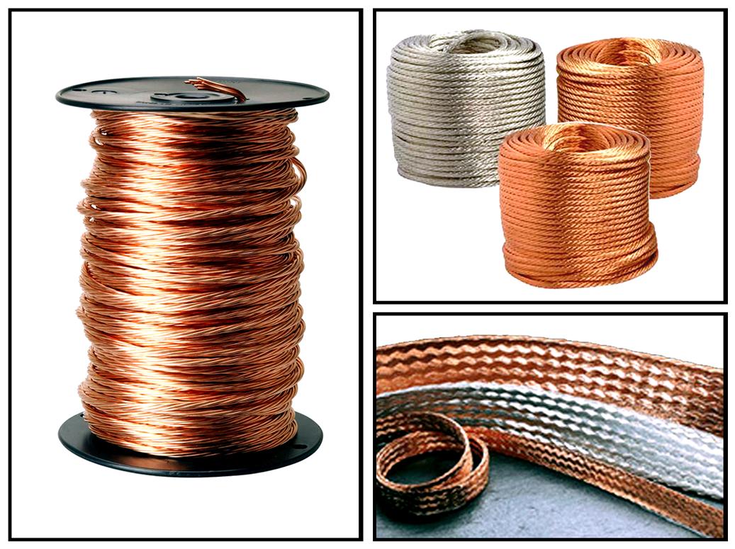 Braided Copper Cable : ห้างหุ้นส่วนจำกัดแสงวีระการไฟฟ้า สานชินถัก สายทองแดงถัก