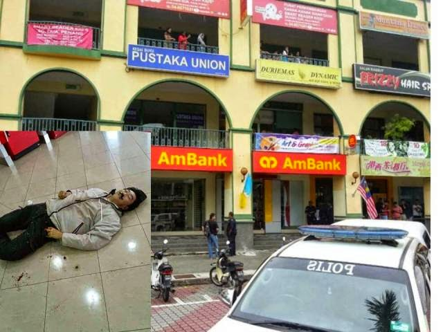 5 Gambar Perompak AmBank Ditembak Mati Pengawal