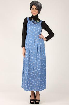 Model Baju Muslimah Kodok Overall Bahan Satin Murah