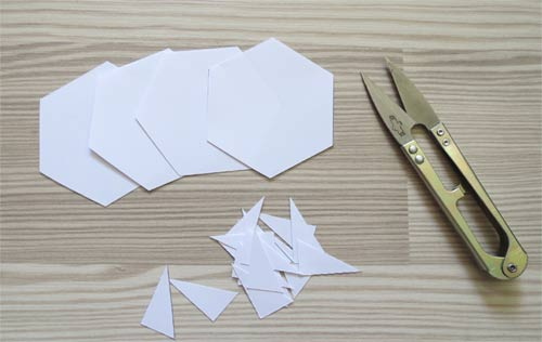 Hexagon Templates for English paper Piecing