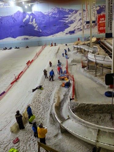 The snow play tubing, sledging and luging at Chill Factore in Trafford Park