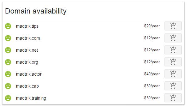 Mencoba mendaftar di Google Domains