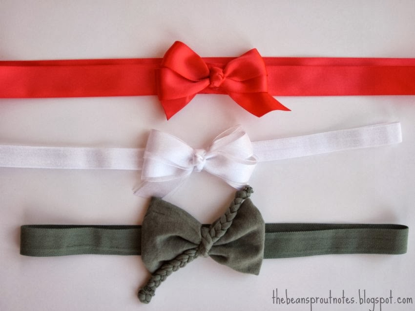 The Bean Sprout Notes Maternity Bow Belts