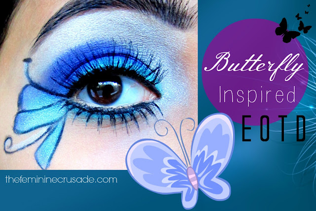 Displaying 20> Images For - Easy Butterfly Eye Makeup...: galleryhip.com/easy-butterfly-eye-makeup.html