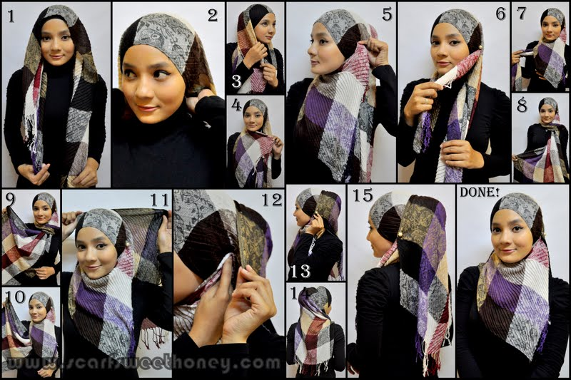 ... ISLAMIC FASHION [part 2]: How to wear Hijab Indonesian Style Tutorial