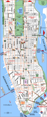 Map of Manhattan City Pictures