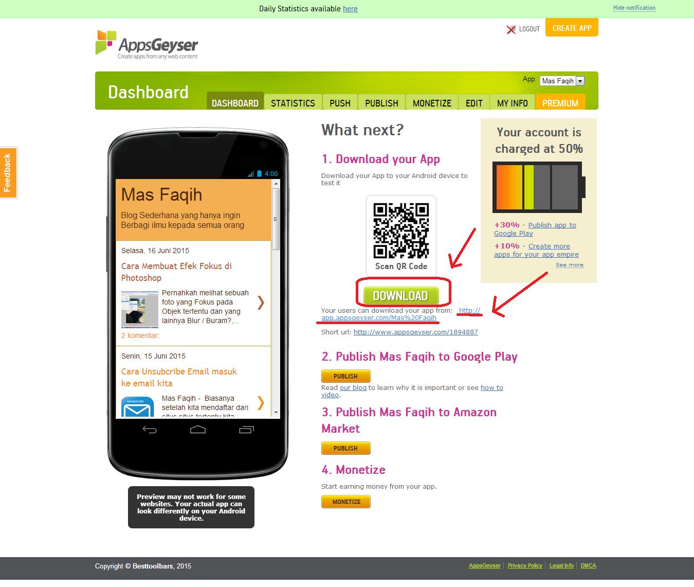 Cara Membuat Website Menjadi Aplikasi Android APK - Achart Forbidden