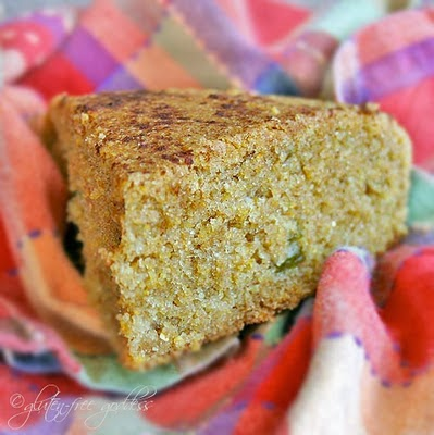 Gluten free cornbread recipe with Green Chiles + Cinnamon