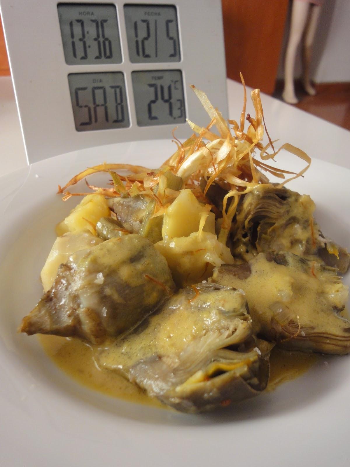 Clases de cocina zaragoza guiso de alcachofas con patata - Cursos de cocina zaragoza ...