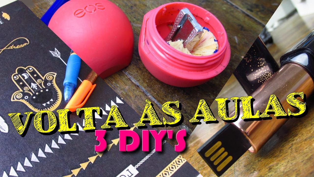 3 DIYs de Volta às aulas, 3 DIYs Back To School Supplies, back to school supplies
