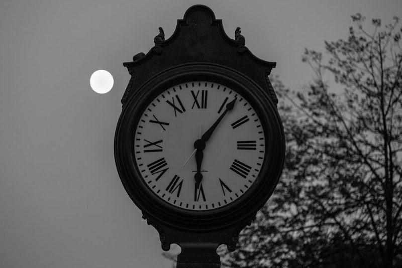 Monument Square Clock Fall 2013 photo by Corey Templeton.