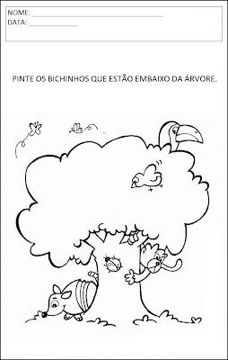 Atividades Animais - Pinte os Bichinhos