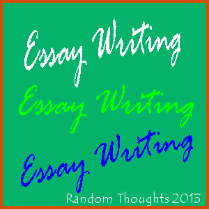 writing thoughts in an essay