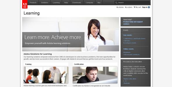 Adobe Learning Center