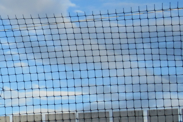 Cat Fence made from pvc pipe: fencing materials