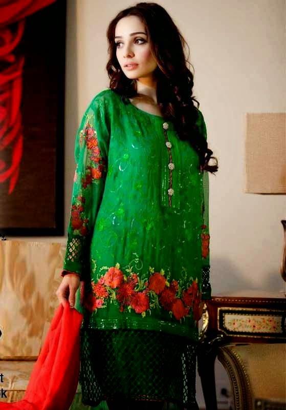 Punjabi Suits Neck Designs Party Wear Design Boutique 2014 Photos