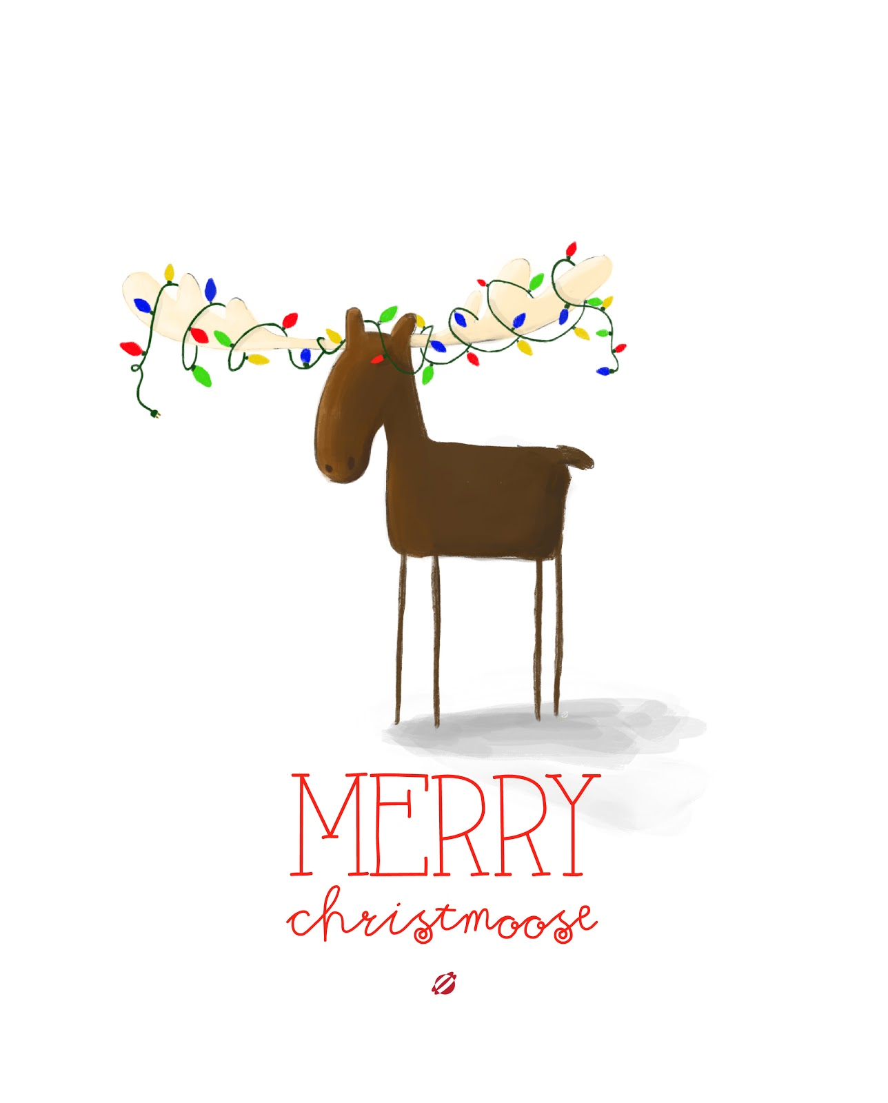LostBumblebee ©2014 MDBN MERRY CHRISTMOOSE 1 Free Printable Personal Use Only.