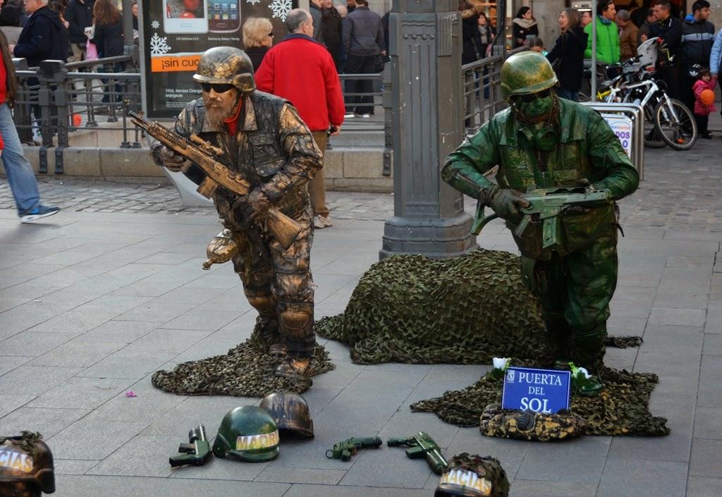 Puerta del Sol Madrid Soldiers