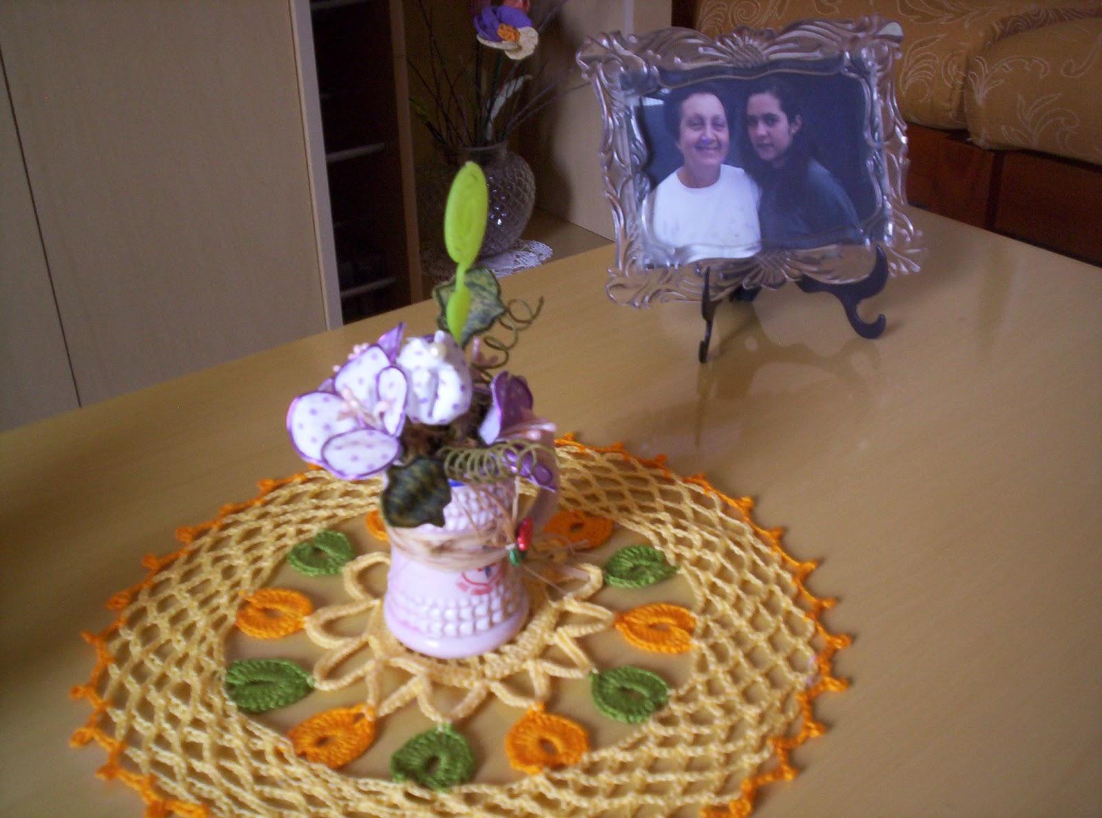 Toalhinha De Croche Flor De Tecido JPG