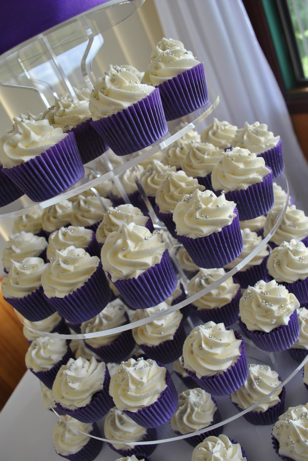 Taylor Made Baking Purple and White Wedding