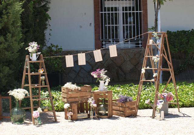 Escaleras en una boda: invitadas de excepción