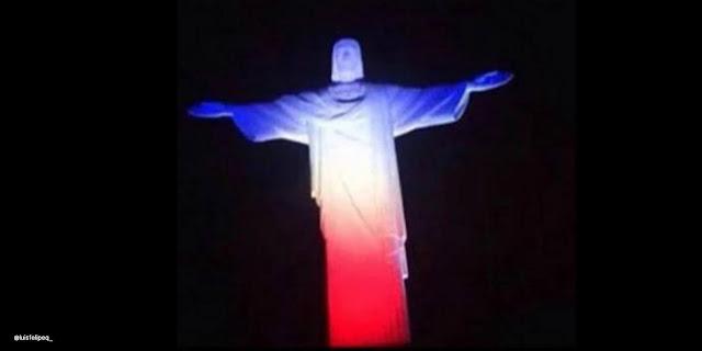 Pray for Paris 06 Le Christ Rédempteur à Rio de Janeiro, au Brésil