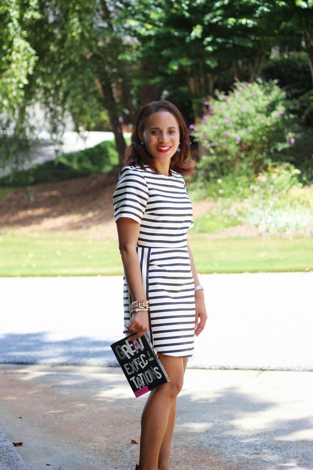 Topshop-Stripe-Satin-Dress