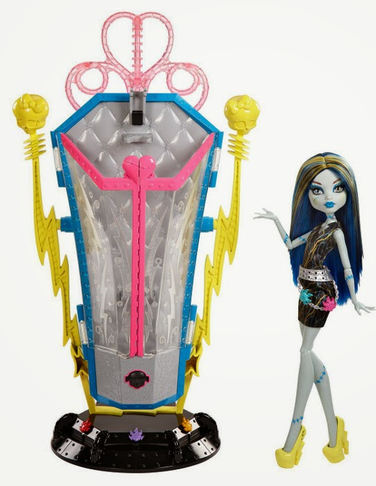 TOYS : JUGUETES - MONSTER HIGH Freaky Fusion   Monstruo Fusión - Cámara electrizante de Frankie Stein   Recharge Chamber Frankie Stein  Producto Oficial 2014 | Mattel BJR46 | A partir de 6 años