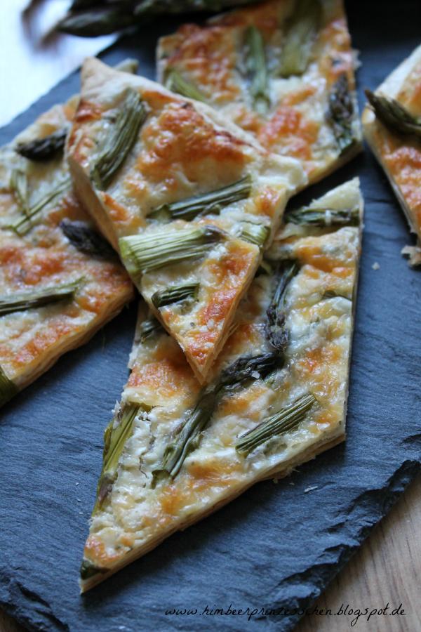 grüner Saprgel Blätterteig Tarte Foodblog Himbeerprinzesschen Sommer