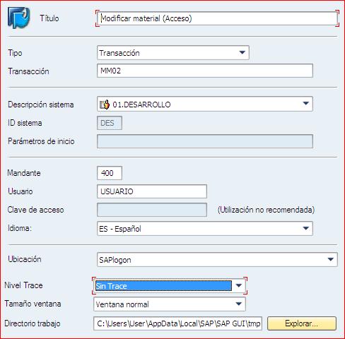 Crear conexion SAP
