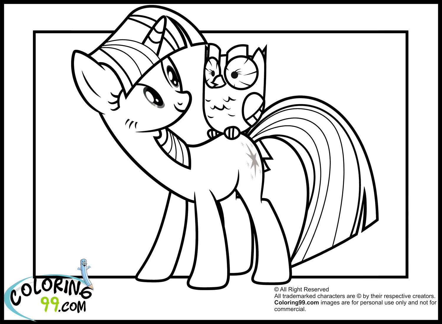 Coloring Pages Of Princess Twilight Sparkle : My little pony twilight sparkle coloring pages team colors