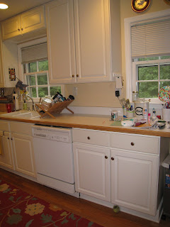 Kitchen before getting a new kitchen - thediybungalow.com