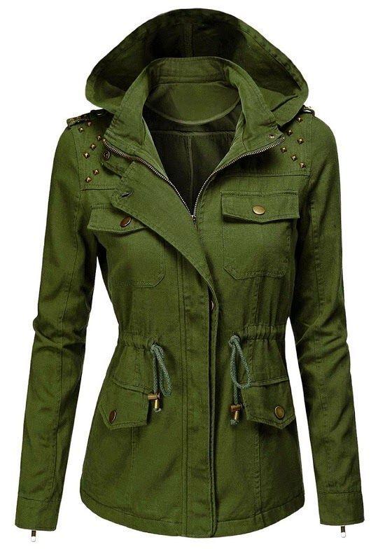 Stylish Women Military Jacket