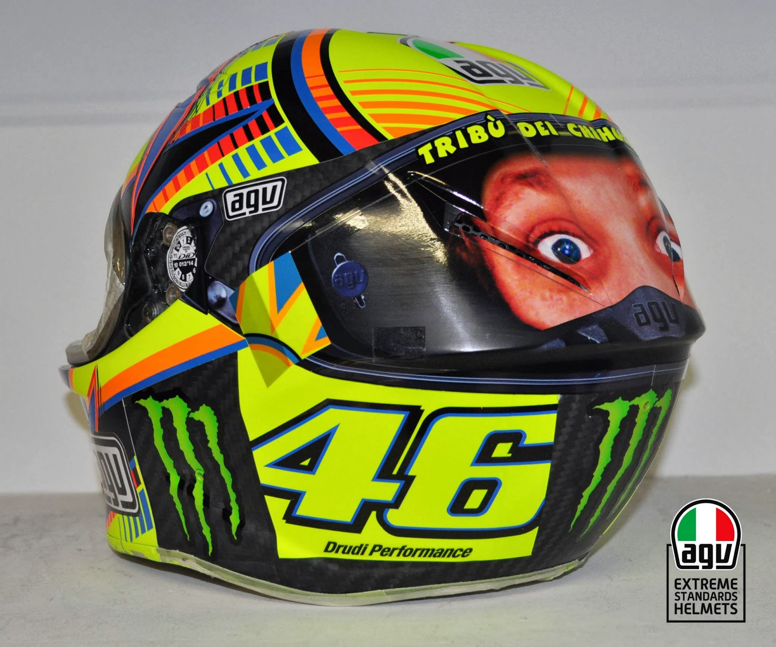 champion helmets valentino rossi second eyes helmet. Black Bedroom Furniture Sets. Home Design Ideas