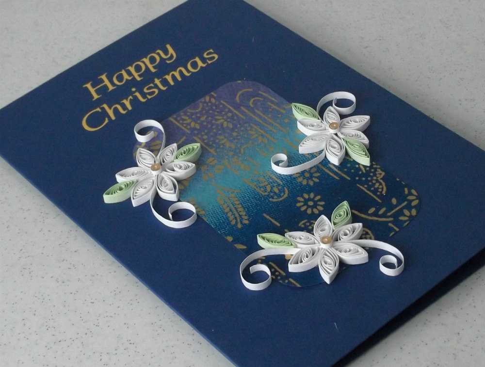 quilling paper christmas greeting card designs 2015