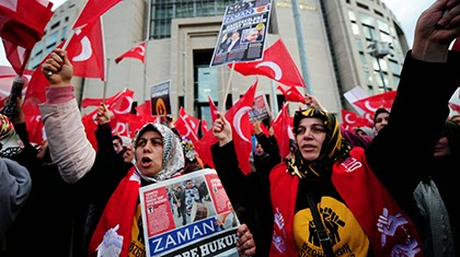 Manifestaciones en Turquía por la detención de periodistas