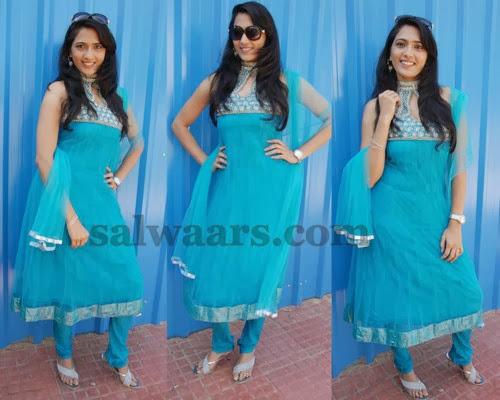 Maithreya Sky Blue Salwar