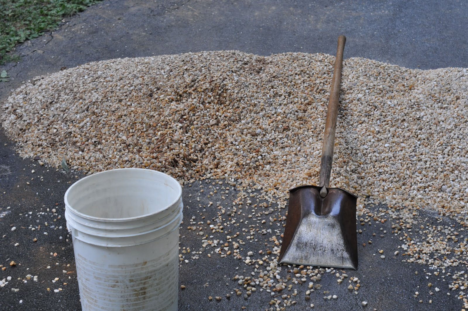 how to put down gravel