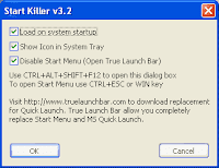 Disable start menu
