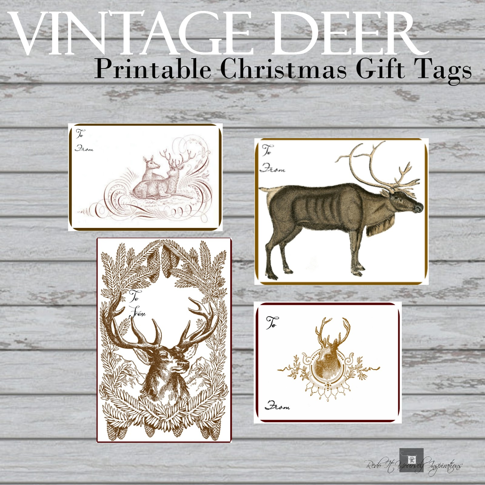 10 free sets of christmas gift tag printables redo it yourself if negle Image collections