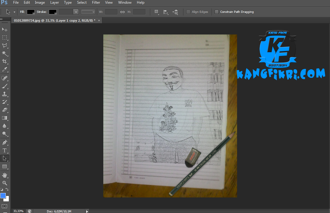 cara membuat gambar menjadi sketsa menggunakan photoshop