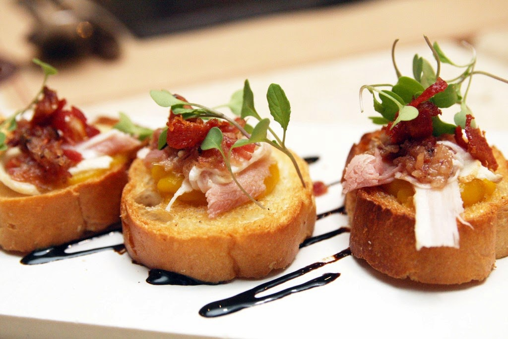 Pumpkin and Bacon Bruschetta Olive Tree Kitchen and Bar