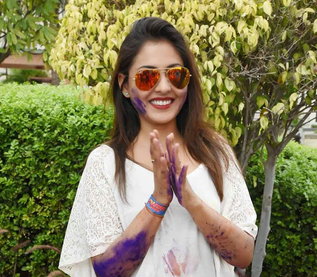 Madhu Shalini  Holi Celebrations Pictures 6.jpg
