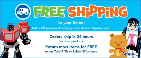 Toys R Us free shipping