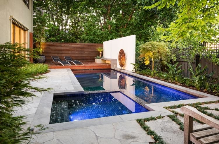 2015 ideas pool trees lawn paving stones