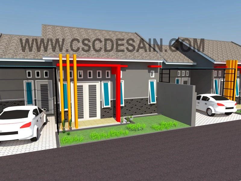 gambar 3D sketchup rumah type 45 - 60