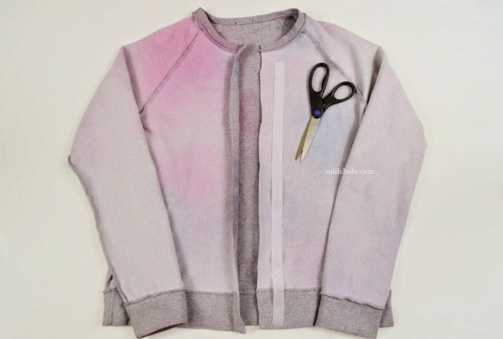 Sweatshirtten Baharlık Hırka Yapımı