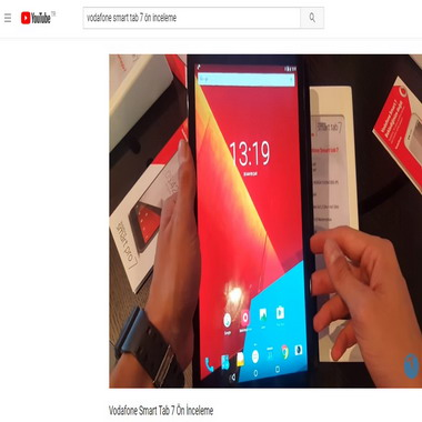 youtube com - vodafone smart tab 7 ön inceleme