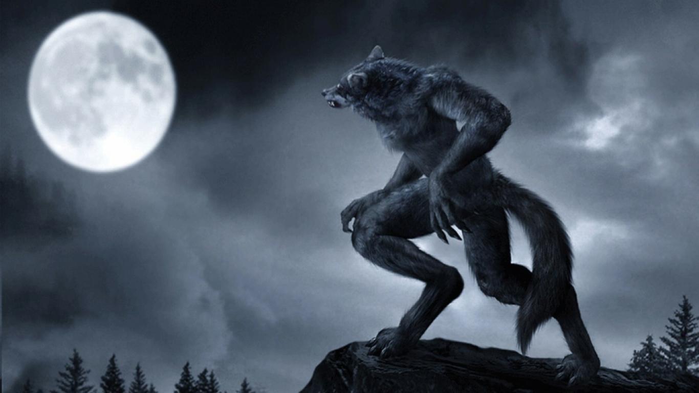 Werewolf Staring At The Moon Dark Wallpaper